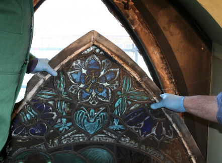 Stained Glass Taken Down